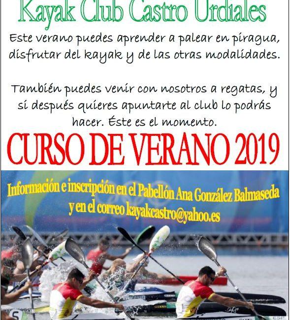 Cursos de Verano 2019 del Kayak Club Castro Urdiales